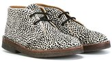 Pépé animal print boots - kids - Leather/Pony Fur/rubber - 21