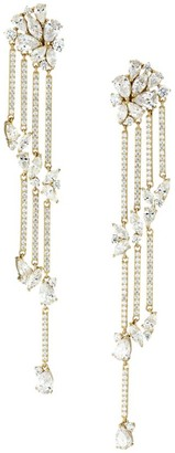Adriana Orsini 18K Goldplated & Cubic Zirconia Cluster Drop Earrings