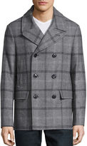 Michael Kors Wool-Blend Plaid Peacoat
