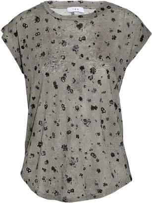 IRO Distressed Floral-print Linen-jersey T-shirt