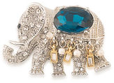 Carolee Night at the Museum Silvertone Royal Elephant Pin