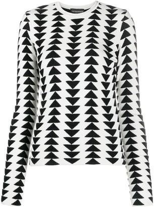 Emporio Armani Triangle Pattern Crew-Neck Pullover