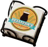 Personal Creations Personalized Beer Coasters with Holder