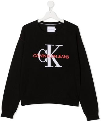 Calvin Klein Kids TEEN logo jumper
