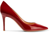 Gianvito Rossi 85 Patent-leather Pumps - Red