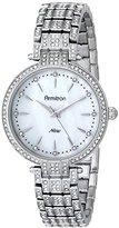 Swarovski Armitron Women's 75/5252MPSV Crystal-Accented Silver-Tone Bracelet Watch