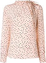Max Mara polka dot blouse
