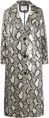 Stand Studio Mollie snakeskin-print coat