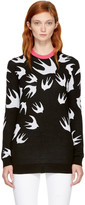 McQ by Alexander McQueen Black Swallow Signature Sweater