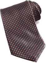 Stefano Ricci Medium Floral Medallion Silk Tie, Black
