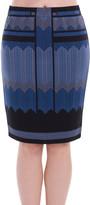 Max Studio Geo-Chevron Skirt