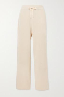 LE 17 SEPTEMBRE Ribbed Cotton Straight-leg Pants - Ecru