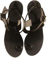 Tibi Black Patent leather Sandals