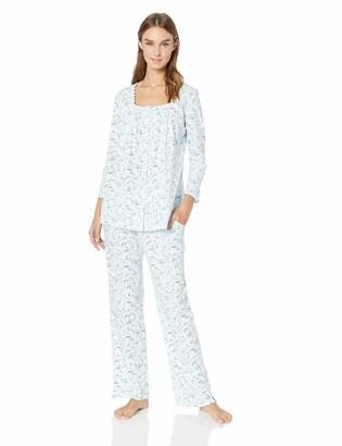 Aria Women's Printed Three Quarter Sleeve Pajama Set