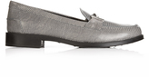 Tod's Gomma reptile-effect leather loafers