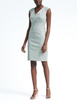 Banana Republic Cap-Sleeve Bi-Stretch Dress