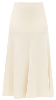 Joseph Flared Knitted Midi Skirt - Ivory