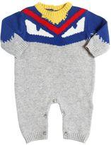 Fendi Knitted Wool & Cashmere Romper
