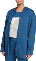 adidas by Stella McCartney Oversized Embroidered Hoodie Jacket