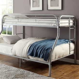 Conte Twin Over Full Bunk Bed Zoomie Kids Bed Frame Color: Silver