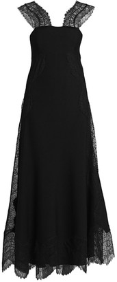 Givenchy Lace-Insert Midi Dress
