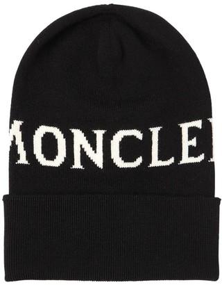 Moncler Logo Wool Knit Hat