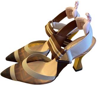 Fendi Colibri Brown Leather Heels