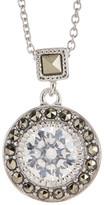 Judith Jack Sterling Silver CZ & Swarovski Marcasite Pendant Necklace
