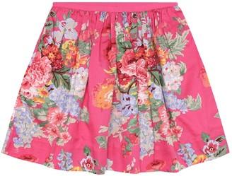 Polo Ralph Lauren Kids Floral cotton skirt