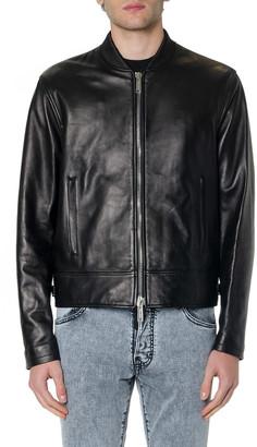 DSQUARED2 Black Classic Leather Jacket