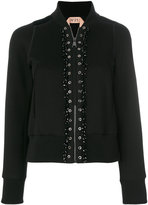 No.21 bomber jacket with eyelet details