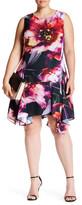 Julia Jordan Floral Print Sharkbite Dress (Plus Size)