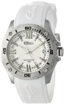 Elini Barokas Women's 10197-02S-WHT Artisan Stainless Steel and White Silicone Band Watch
