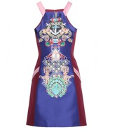 Mary Katrantzou Fenbot Racer satin-twill dress