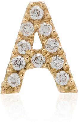 Loquet 18K yellow gold A initial diamond charm