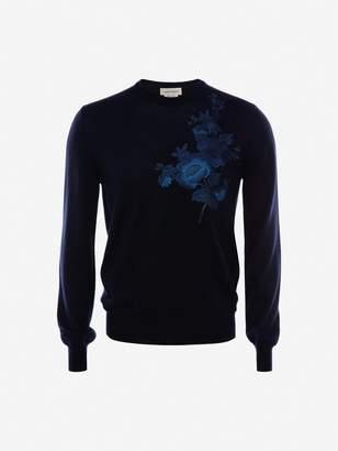 Alexander McQueen Japanese Camellia Crew-Neck Sweater