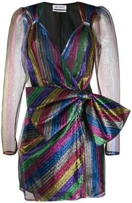 ATTICO The striped wrap mini dress