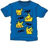 Pokemon PIKA PIKA PIKA CHU! | Pikachu Tshirt | Official | | Youth | Age 7-8