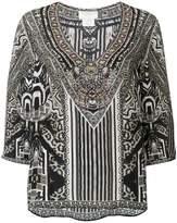 Camilla embellished tribal print blouse