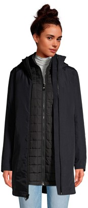 Lands' End Petite Squall 3 in 1 Waterproof Winter Long Coat with Hood