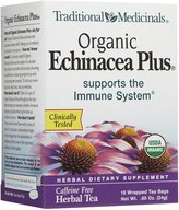 Traditional Medicinals Organic Echnicea Plus, Wrapped Tea Bags, 16 ct