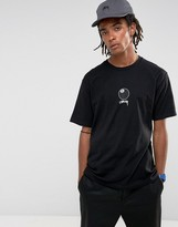 Stussy T-shirt With 8 Ball Front Print In Black