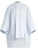 Palmer Harding PALMER//HARDING Poet patch-pocket striped shirt