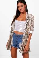boohoo Maria Summer Sequin Blazer