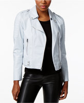 Andrew Marc Faux-Leather Moto Jacket
