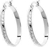 Monet Stripe Hoop Earrings