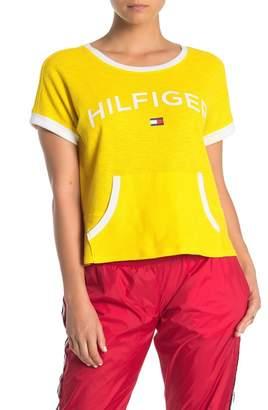 Tommy Hilfiger Textured Knit Pocket Front T-Shirt