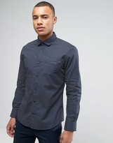 Esprit Slim Fit Long Sleeve Shirt with All Over Ditzy Fit