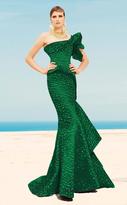 MNM Couture - 2344 Peplum Fantasy Asymmetric Mermaid Gown