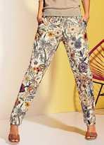 Heine Garden Print Stretch Skinny Trousers